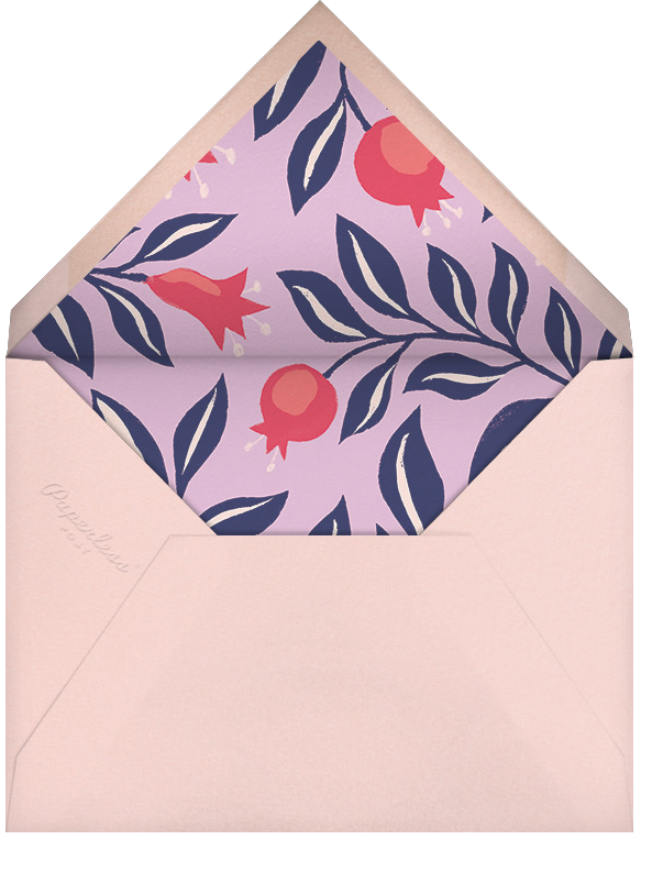 Pomegranate Portrait - Paperless Post - Rosh Hashanah - envelope back