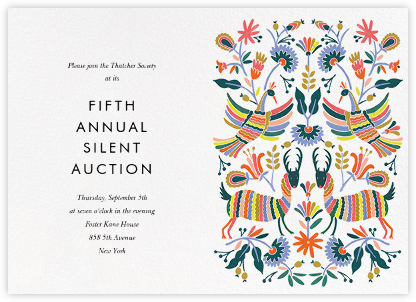 Otomi Wildlife (Horizontal) - Rifle Paper Co. - Charity and fundraiser invitations