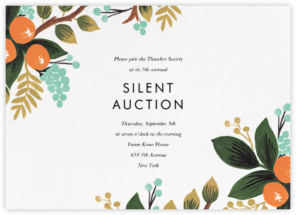 Orange Grove (Horizontal) - Rifle Paper Co. - Fundraiser Invitations
