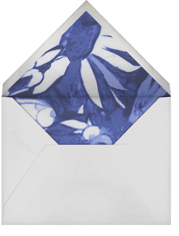 Watercolor Floral - Blue - Oscar de la Renta - Envelope