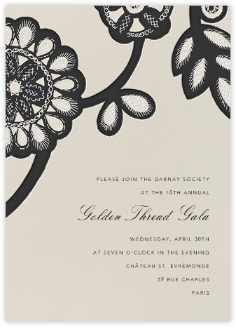 Camille - Noir - Oscar de la Renta - Charity and fundraiser invitations