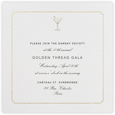 Indented Rounded Corners - Gold - Paperless Post - Event invitations
