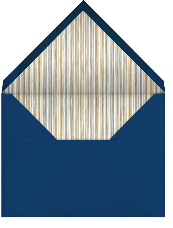 Indented Rounded Corners - Dark Blue - Paperless Post - Charity and fundraiser  - envelope back