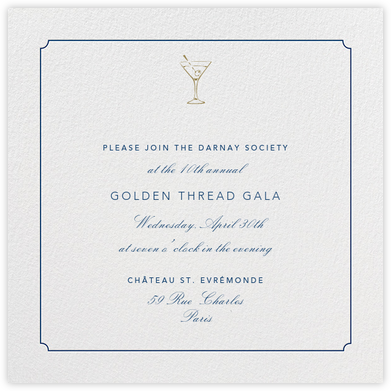 Indented Rounded Corners - Dark Blue - Paperless Post - Charity and fundraiser invitations