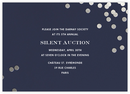Confetti - Navy/Silver - kate spade new york - Fundraiser Invitations