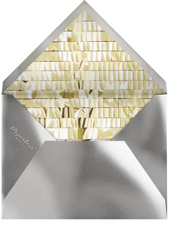 Shine (Thirty) - White - CONFETTISYSTEM - Milestone  - envelope back