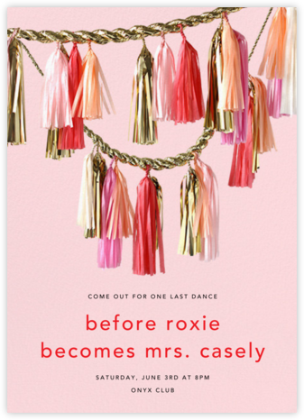 Sparkle - CONFETTISYSTEM - Bachelorette party invitations