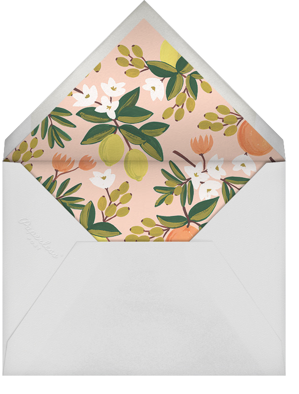 Citrus Orchard Suite (Invitation) - White - Rifle Paper Co. - Bridal shower - envelope back