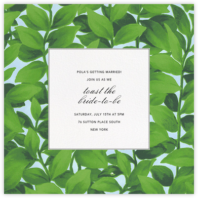 Hedge - Oscar de la Renta - Bridal shower invitations