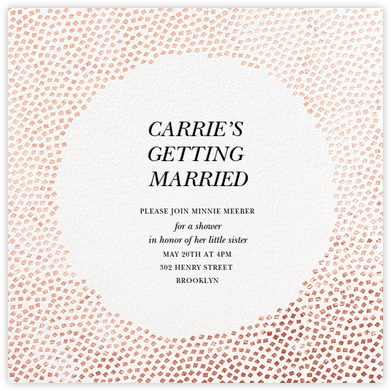 Konfetti - Rose Gold - Kelly Wearstler - Bridal shower invitations