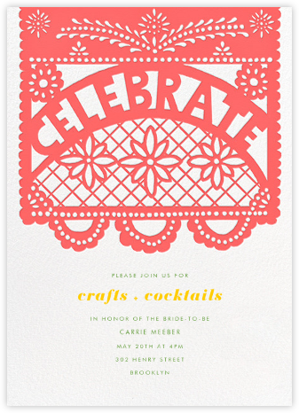 Papel Picado Celebration - Paperless Post - Bridal shower invitations
