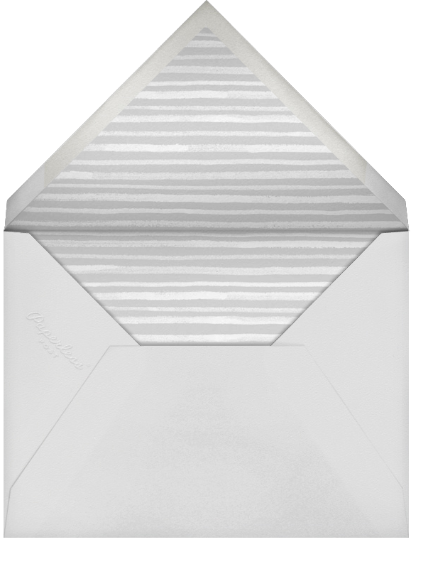 Tropical Palm - Mint - Paperless Post - Bridal shower - envelope back