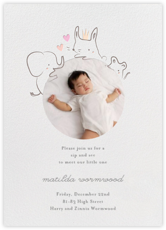 Sneak Peek - Little Cube - Elephant Baby Shower Invitations