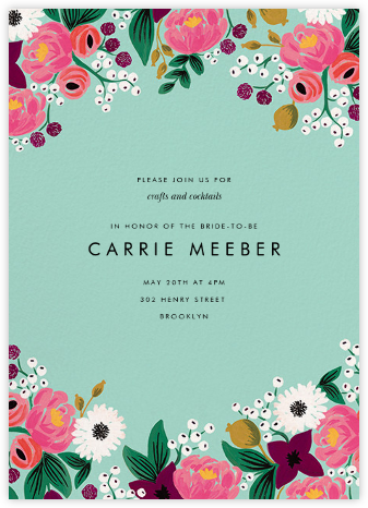 Vintage Blossom (Tall) - Rifle Paper Co. - Bridal shower invitations