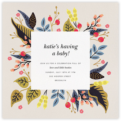 Egret Garden - Rifle Paper Co. - Baby Shower Invitations