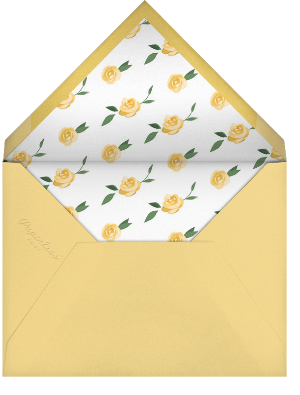 Teablossom (Invitation) - Gold/Yellow - Paperless Post - Baby shower - envelope back