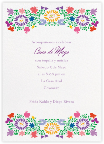 Oaxacan - White - Paperless Post - Summer Party Invitations