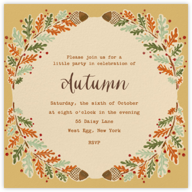 Watercolor Autumn Frame - Paperless Post - Entertaining invitations