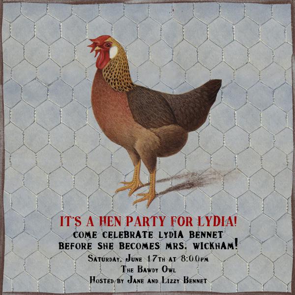 Hen - John Derian - Bachelorette party invitations