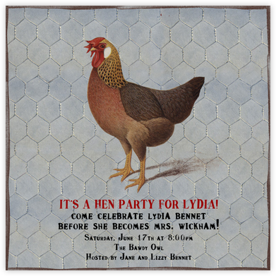 Hen - John Derian - Bachelorette Party Invitations