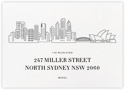Sydney Skyline View - White/Black - Paperless Post