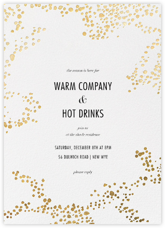 Evoke (Tall) - White/Gold - Kelly Wearstler - Holiday party invitations