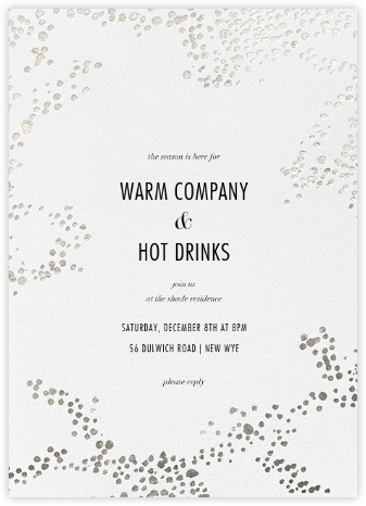 Evoke (Tall) - White/Silver - Kelly Wearstler - Holiday invitations