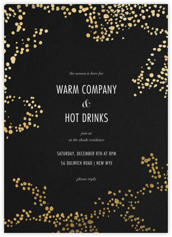 Evoke (Tall) - Black/Gold - Kelly Wearstler - Holiday party invitations