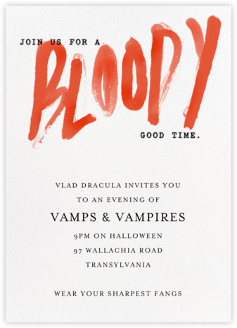 A Bloody Good Time - Paperless Post - Halloween invitations