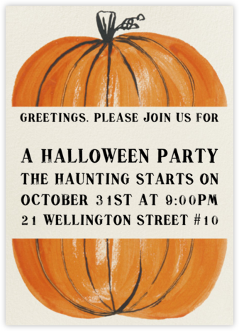 Goblins in a Pumpkin Patch - Paperless Post - Halloween invitations