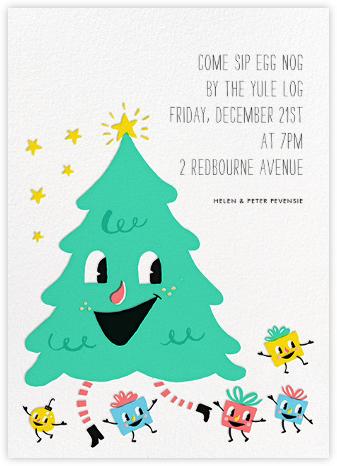 Dancing Tree (Invitation) - Hello!Lucky - Christmas invitations