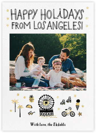 LA Attractions - Hello!Lucky - Beach Christmas Cards