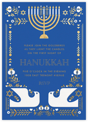 Hanukkah Doves (Invitation) - Hello!Lucky -