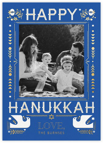 Hanukkah Doves (Photo) - Hello!Lucky - Hanukkah photo cards