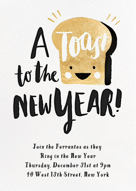 New Year's Toast (Invitation) - Hello!Lucky - New Year's Eve