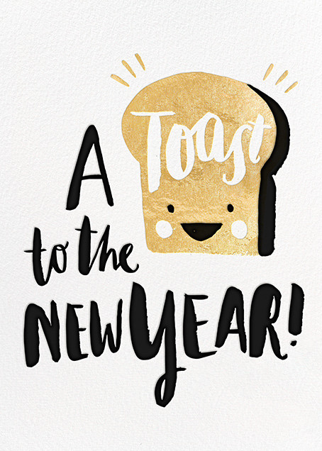 New Year's Toast (Greeting) - Hello!Lucky - New Year cards