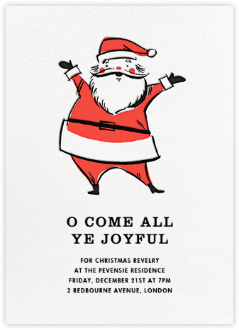 Retro Santa (Invitation) - Hello!Lucky - Christmas Party Invitations
