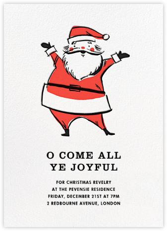 Retro Santa (Invitation) - Hello!Lucky - Online Party Invitations