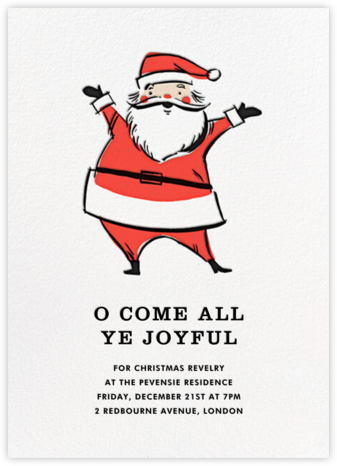 Retro Santa (Invitation) - Fair - Hello!Lucky -