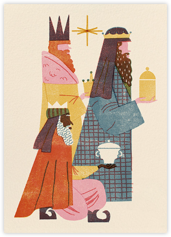 Three Wise Men (Barbara Dziadosz) - Red Cap Cards -