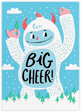 Yeti Cheer - Hello!Lucky - Holiday cards