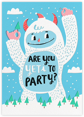 Yeti Party - Hello!Lucky - Winter Party Invitations