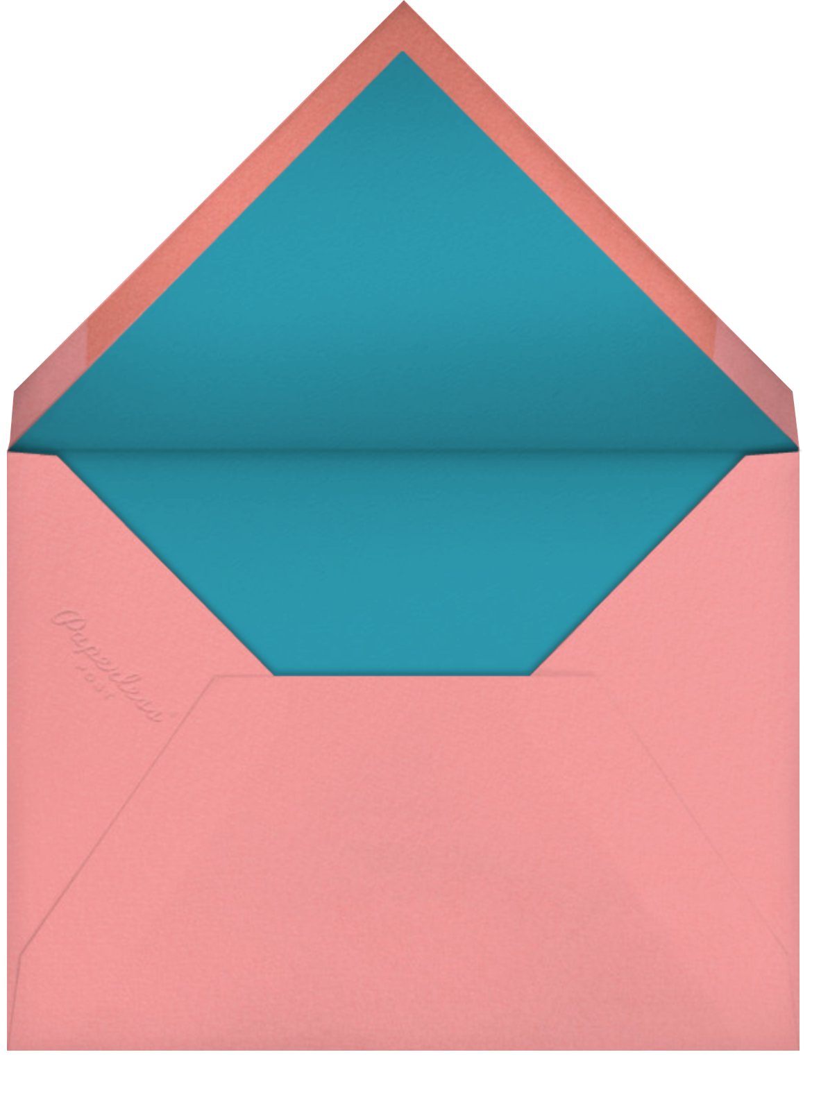 Rotund Rabbit (Barbara Dziadosz) - Red Cap Cards - Envelope