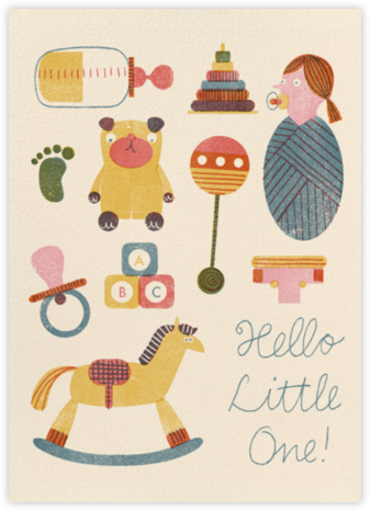 Hello Little One (Barbara Dziadosz) - Red Cap Cards - Birth Announcements