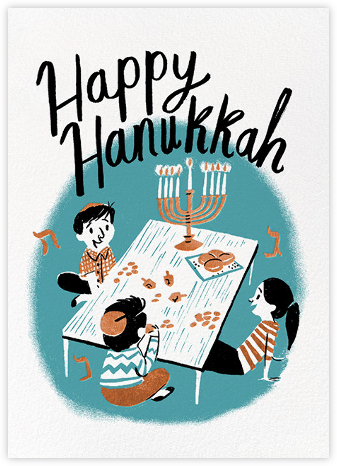Family Hanukkah (Nicholas John Firth) - Red Cap Cards - Hanukkah cards