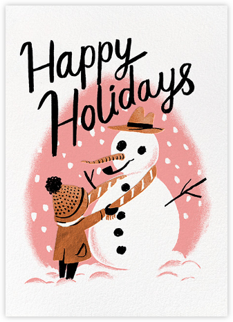 My Friend the Snowman (Nicholas John Firth) - Red Cap Cards - Holiday cards