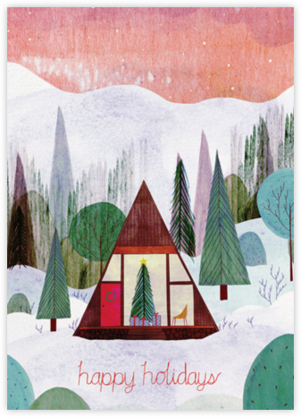 Modern Cabin (Josie Portillo) - Red Cap Cards - Holiday Cards