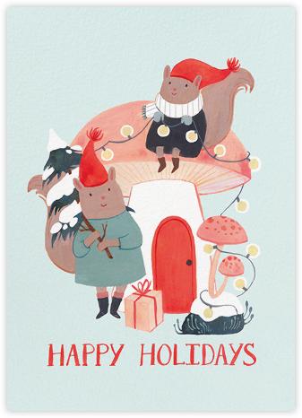 Christmas Mushroom (Kelsey Garrity Riley) - Red Cap Cards -