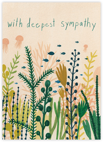 Underwater Sympathy (Kate Pugsley) - Red Cap Cards - Online Greeting Cards
