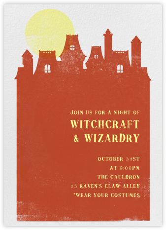 Haunted House - Blood Orange - Paperless Post - Halloween invitations